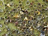 Metal rings on a table — Stock Photo