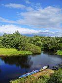 Summer canoeing — Stock Photo