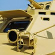 Armoured troop-carrier close up — Stock Photo