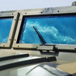 Постер, плакат: Closeup jeep glass
