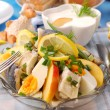 Herring salad for easter - Stock Photo