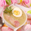 White borscht for easter — Stock Photo