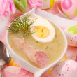 White borscht for easter — Stock Photo #2741205