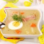 White borscht for easter — Stock Photo