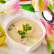 White borscht for  easter - Stock Photo
