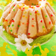 Stock Photo: Easter ring cake with glaze
