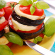 Grilled aubergine with tomato — Stock Photo #2742426