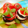 Grilled aubergine with tomato — Stock Photo #2742445