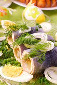 Herring rolls for easter — Stock Photo