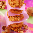 Homemade nuts cookies - Stock Photo