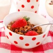 Muesli with strawberry — Stock Photo
