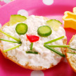 Breakfast with cottage cheese for child — Stok Fotoğraf #2754386