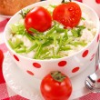 Breakfast with cottage cheese ,tomato — Stock Photo