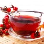 Cup of rosehip tea — Stock Photo