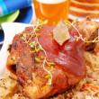 Pork knuckle baked with beer — Stock Photo #2770288