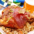 Pork knuckle baked with beer — Stockfoto #2770298