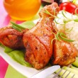 Baked chicken legs with honey — Stock Photo #2770553