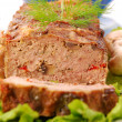 Stock Photo: Meatloaf with mushrooms and paprika