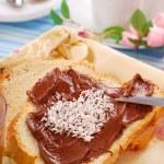 Sweet bun with chocolate cream — Stock Photo #2773043