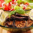 Grilled aubergine with sesame — ストック写真