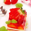 Strawberry cake with jelly — Stock Photo