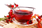 Cup of rosehip tea — Stock Photo