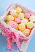 Colorful meringues — Stock Photo