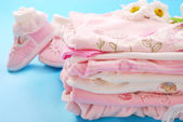 Layette for baby girl — Stock Photo