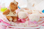Layette for baby girl — Stockfoto