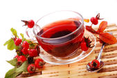 Cup of rosehip tea — Stockfoto