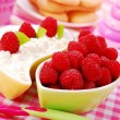 Stock Photo: Cottage cheese with raspberry