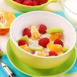Stock Photo: Muesli with fruits as diet food