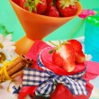 Stock Photo: Home made strawberry confiture