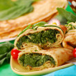 Pancakes with spinach — Stock fotografie #2801298