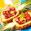 Fruits salad in pineapple — Stock fotografie #2801328