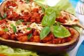 Stuffed aubergine — Stock Photo