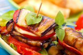 Grilled aubergine — Stock Photo