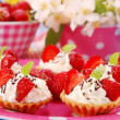 Stock Photo: Strawberry mini tartlets