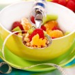 Muesli with fresh fruits as diet food — Stock Photo #2827934