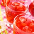 Fresh strawberry drink — Stockfoto