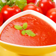 Tomato cream soup with basil — Stock Photo #2843033