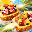 Stock Photo: Fruits salad in pineapple