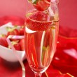 Royalty-Free Stock Photo: Champagne with strawberry