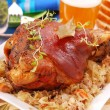 Stock Photo: Pork knuckle baked with beer