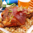Pork knuckle baked with beer — Stock Photo