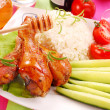 Baked chicken legs with honey — Εικόνα Αρχείου #2853247