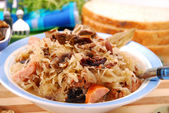 Sauerkraut with mushrooms — Stock Photo