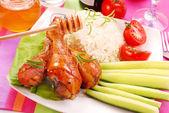 Baked chicken legs with honey — Zdjęcie stockowe