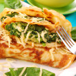 Pancakes with spinach — Stock Photo #2921466