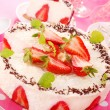 Stock Photo: Cheesecake with strawberry